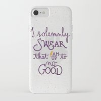 dumbledore iPhone & iPod Cases featuring I am up to no good by Earthlightened
