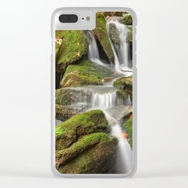 Mossy Rohrbaugh Waterfall Clear iPhone Case