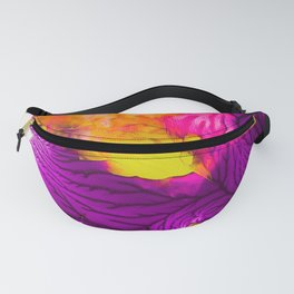 Purple Pink And Chartreuse Abstract Fanny Pack