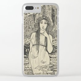 Woman in forest landscape - Gust of the Wall Perné, (1900) Clear iPhone Case