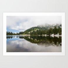 Reflection Lakes Art Print