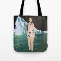 lee pace Tote Bags featuring Glacial Pace by sens