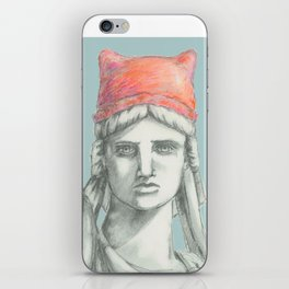 Liberty in PINK skyblue iPhone Skin