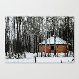Yurt in the Birch Canvas Print