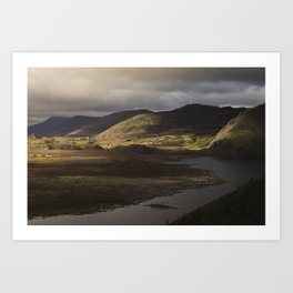 Clouds, Land, Water Art Print