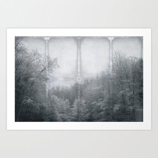 hoarfrost forest Art Print
