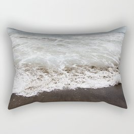 Brown Beach Rectangular Pillow