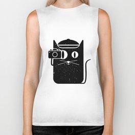 Cat & Camera Biker Tank