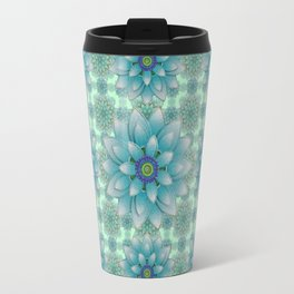 Embroidered blue&green Travel Mug