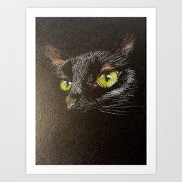 Black cat 1 Art Print