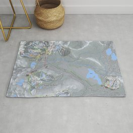 Donner Pass Resort Trail Map Combo Rug