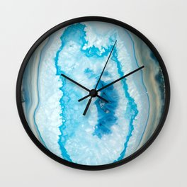 Collapsing blue Agate Wall Clock
