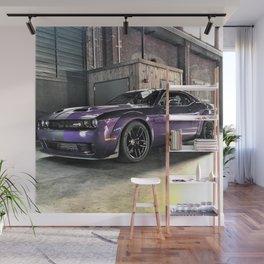 Plum Crazy Purple Challenger Demon Hellcat Redeye Wall Mural