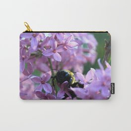 Busy Bee in Lilac Art Photography Carry-All Pouch