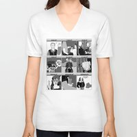 hamlet V-neck T-shirts featuring Hamlet Ramlet by Tim Malstead