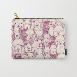 just alpacas cherry pearl Carry-All Pouch