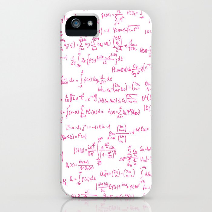 Pink Math Equations iPhone Case