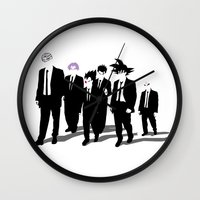 reservoir dogs Wall Clocks featuring Reservoir Warriors by ddjvigo