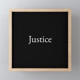 Justice 1- black and white Framed Mini Art Print