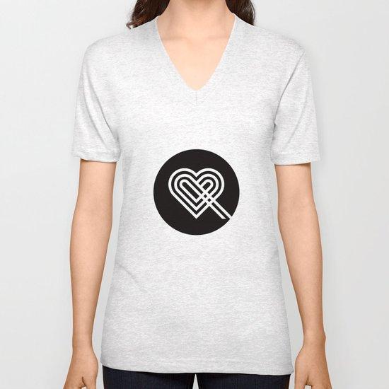 Altiro Studio Ampersand Heart Unisex V-Neck