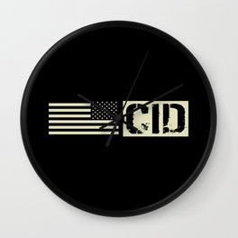 CID (Black Flag) Wall Clock
