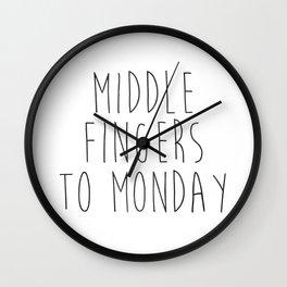 Monday Sucks | Modern Femme Wall Clock