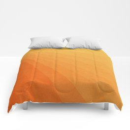 Shades of Sun - Line Gradient Pattern between Light Orange and Pale Orange Comforters