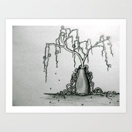 Wilted Plant Art Print