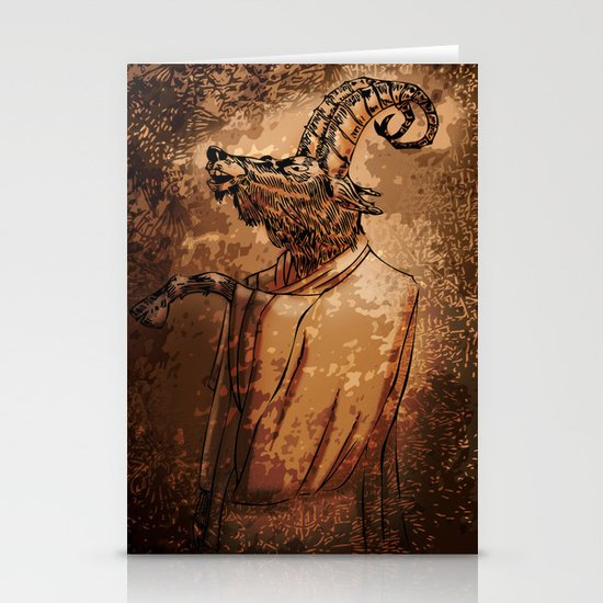 GOAT THRONE Stationery Cards