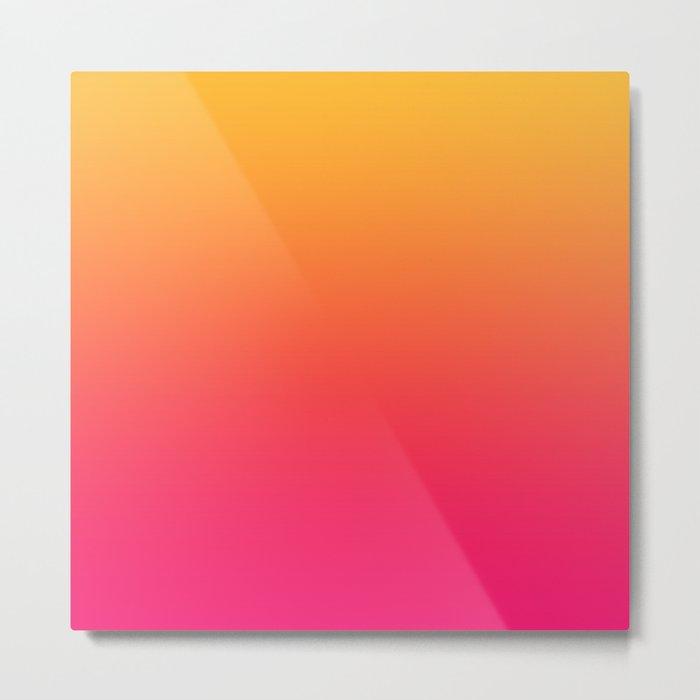 Hot Pink / Golden Heart Gradient Colors Metal Print