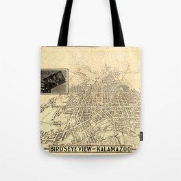 Map Of Kalamazoo 1908 Tote Bag