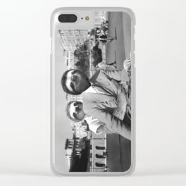 Sloth in Roman Holiday Clear iPhone Case