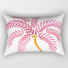 Pink Palm Tree Rectangular Pillow
