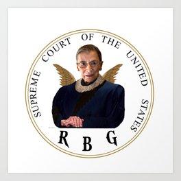 Ruth Bader Ginsburg - RBG Art Print