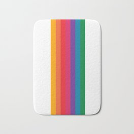 Retro Bright Rainbow - Straight Bath Mat
