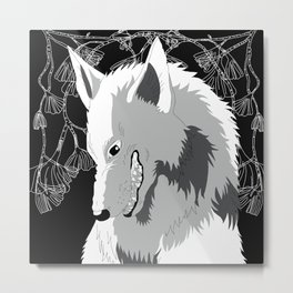 Wolf God Metal Print
