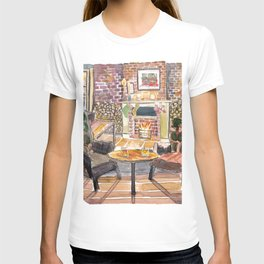 Quiet and cozy Christmas Eve at Fireside in New York Pub T-shirt