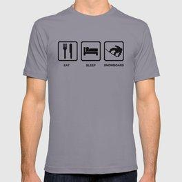 Eat Sleep Snowboard Mens Black Snowboarding T-Shirt WOW T-shirt