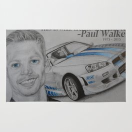 Paul Walker Tribute Rug