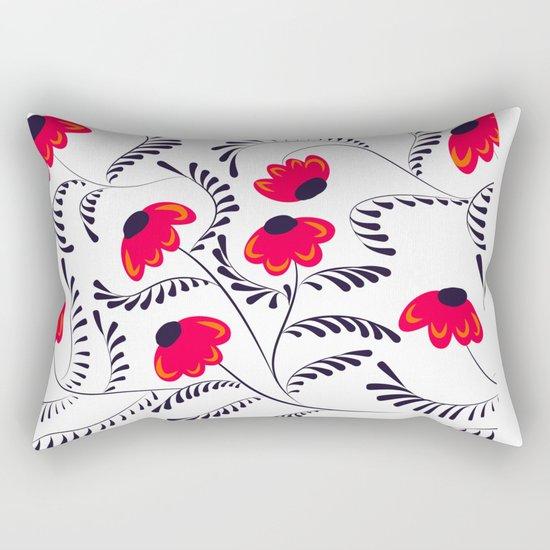 Beauty simple seamless floral pattern swirl Rectangular Pillow