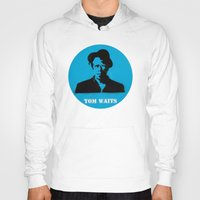 tom waits Hoodies featuring Tom Waits Record Painting by All Surfaces Design