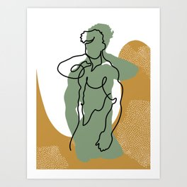 NOODDOOD Lines 9 Art Print