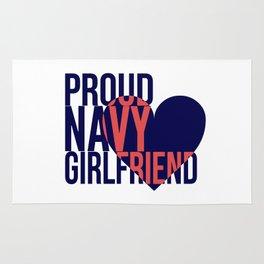 Proud Navy Girlfriend Rug