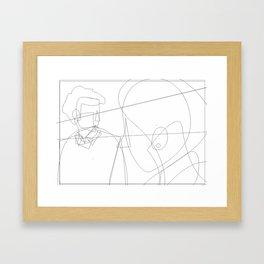 Enlightened me Framed Art Print