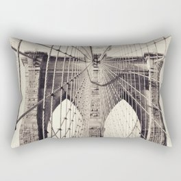 Brooklyn bridge, New York city, black & white photography, wall decoration, home decor, nyc fine art Rectangular Pillow