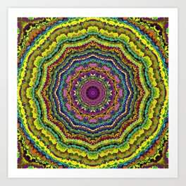 Rock the Casbah-Mandala-1 Art Print