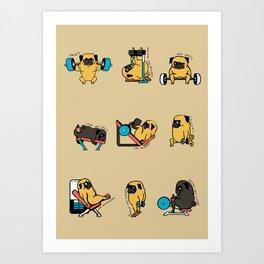 Pug Leg Day Art Print