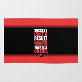 Lab No. 4 - Success Is Not A Result Of Spontaneous Combustion Gym Inspirational Quotes Poster Rug