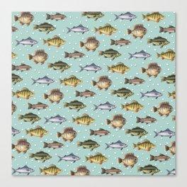 Watercolor Fish Canvas Print