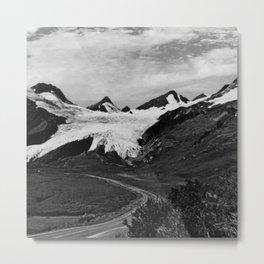 Retro USA Alaska Worthington glacier in summer 1970 Metal Print